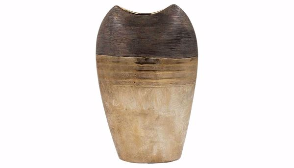 Picture of HZ Black & Bronze Two-Tone Vase Large
