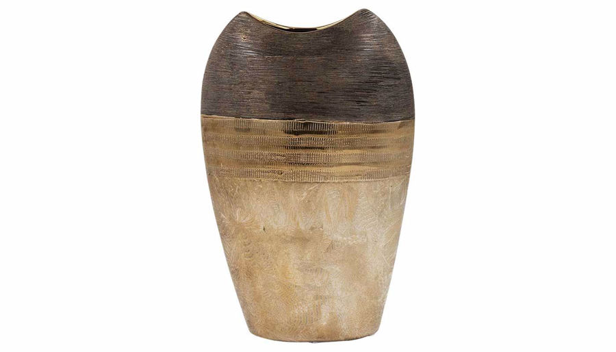 Imagen de HZ Black & Bronze Two-Tone Vase Large - 015-456