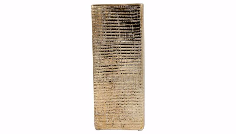 Imagen de HZ Gold Rectangular Vase Small