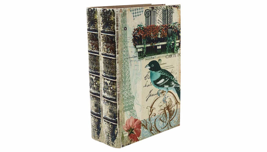 Picture of HZ Vintage Bird Book Box Large