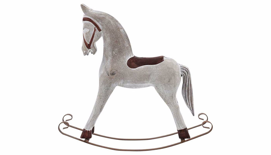 Picture of HZ White Rocking Horse