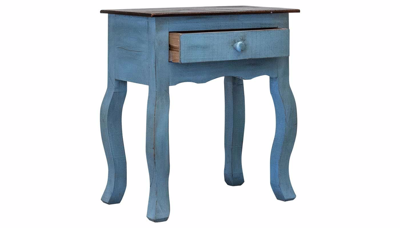 - Side Accent Table Blue 427 - Home Zone Furniture - Furniture