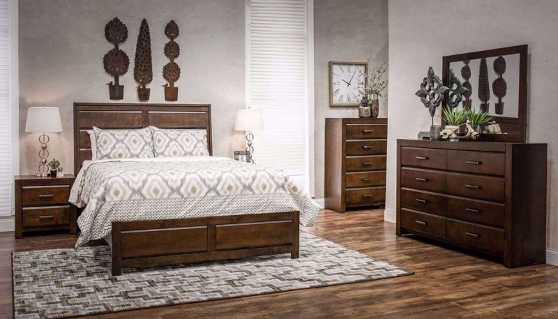 Imagen de Nickolas Full 3 Piece Bed, Dresser, Mirror & Nightstand
