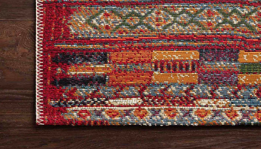 """Picture of Mika Red Multi Rug 6'7""""X9'4"""