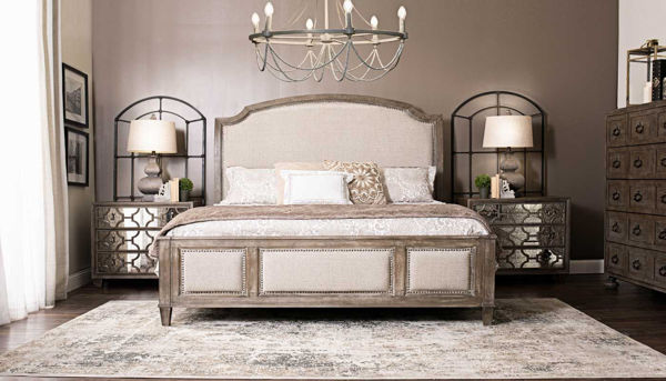 Picture of Riverside 3-Piece King Bed, Dresser, Mirror & Mirrored Nightstand