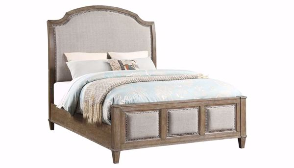 Imagen de Riverside 3-Piece Queen Bed, Dresser, Mirror & Wooden Nightstand