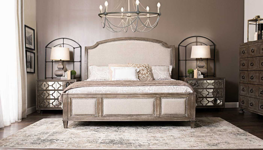 Picture of Riverside 3-Piece Queen Bed, Dresser, Mirror & Mirrored Nightstand