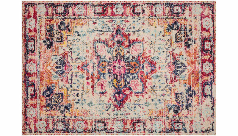 """Picture of Nadia Ivory Fiesta Rug 6'7 X 9'2"""""""