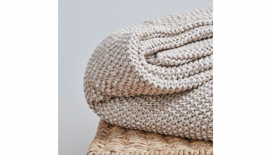 Picture of Briar Cotton Knit Throw Natural