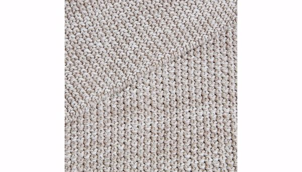 Imagen de Briar Cotton Knit Throw Natural