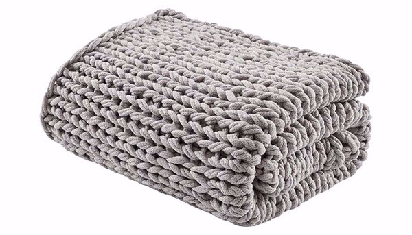 Picture of Chunky Double Knit Throw Grey