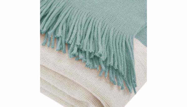 Picture of Stockholm Faux Cashmere Aqua Throw