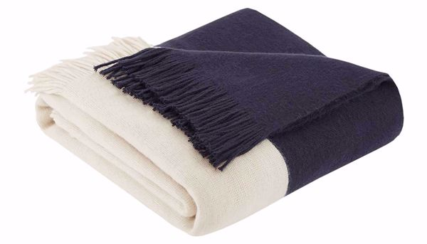 Picture of Stockholm Faux Cashmere Navy Throw