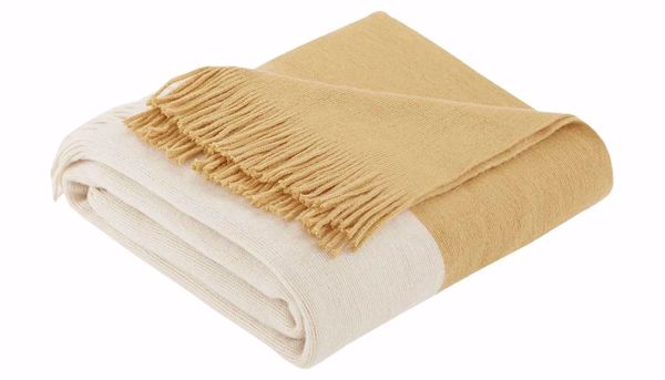 Picture of Stockholm Faux Cashmere Yellow Throw