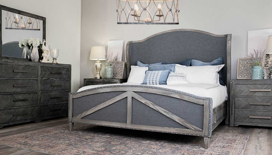 Imagen de Avon 3-Piece King Bed, Dresser, Mirror & Nightstand