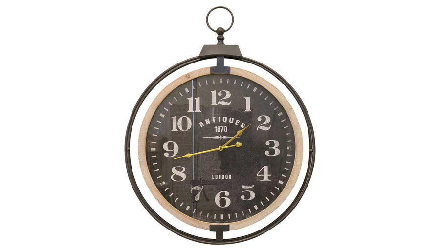 Imagen de HZ Hanging Clock with Black Dial