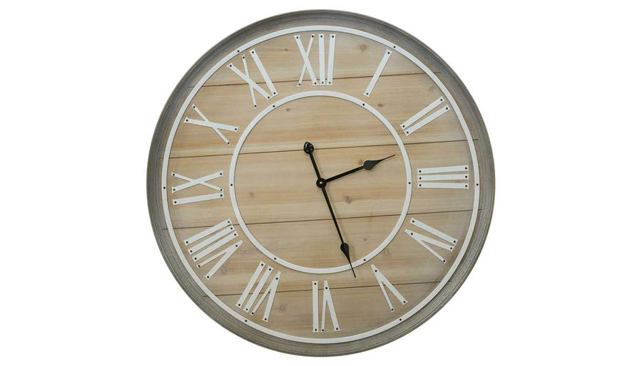 Imagen de HZ Metal Wood Panel Clock