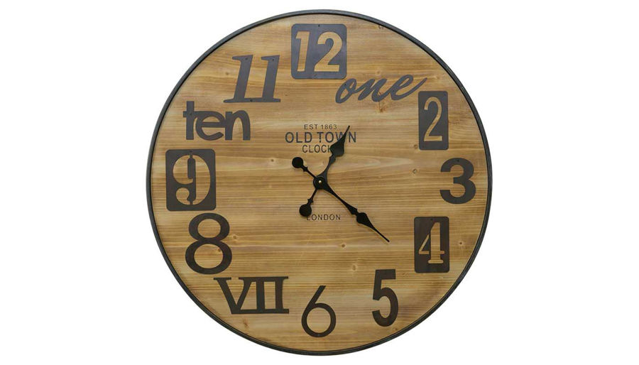 Picture of HZ Metal Wood Clock