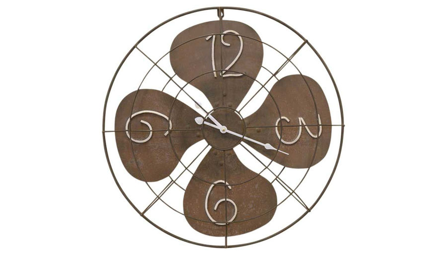 Picture of HZ Rustic Metal Fan Clock