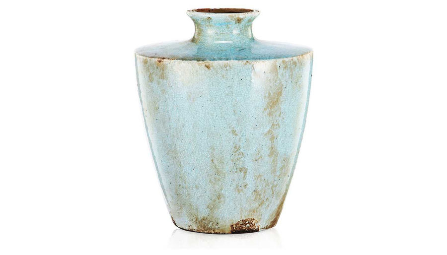 Imagen de HZ Light Blue Ceramic Vase Large - 185