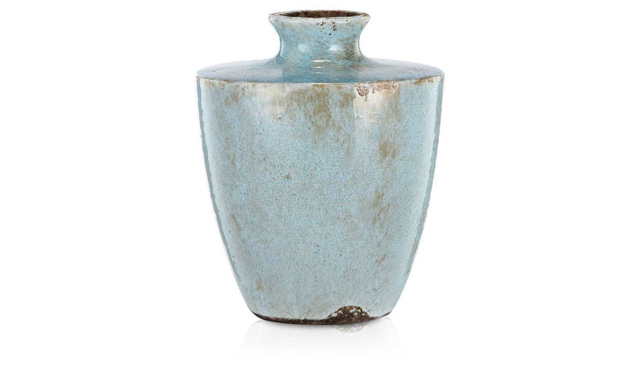 Imagen de HZ Light Blue Ceramic Vase Small - 186