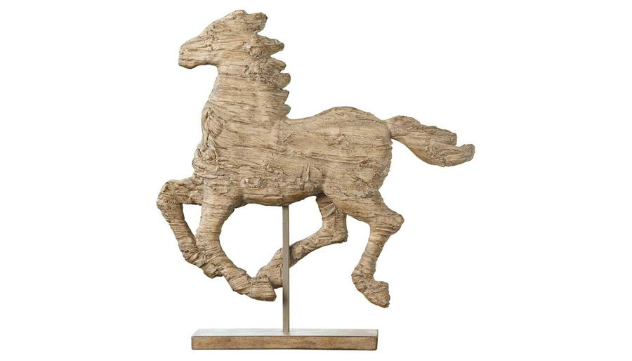 Imagen de HZ Cream Polyresin Horse On Stand