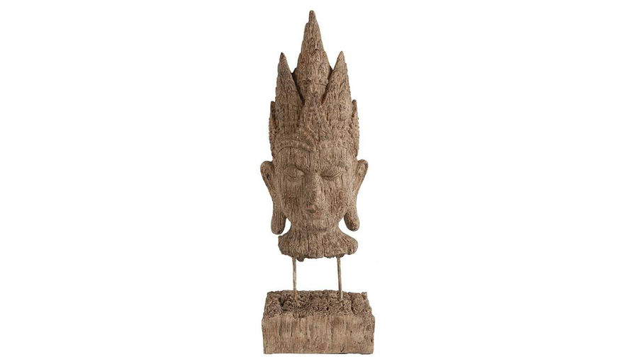 Picture of HZ Tribal Buddha Head On Stand - 73631