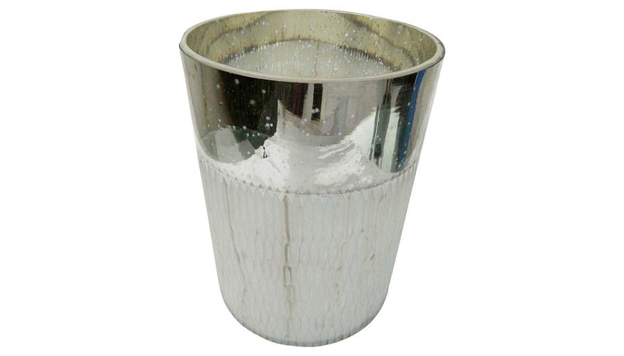 Picture of HZ Vase Etched Silver - 77244