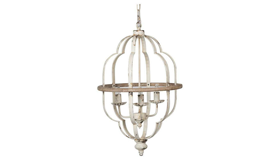 Picture of HZ White Iron 3-Light Chandelier - 44511-DS