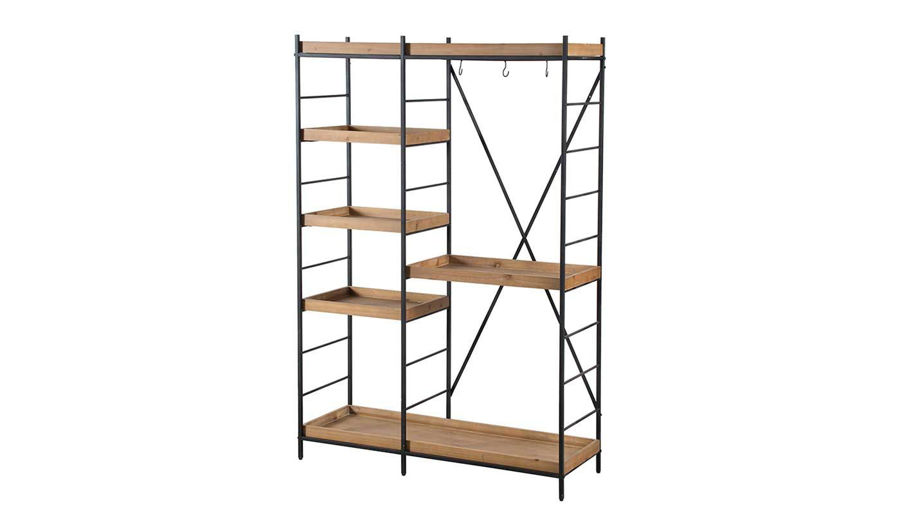 Imagen de HZ Jamal Wood Metal Shelving Unit
