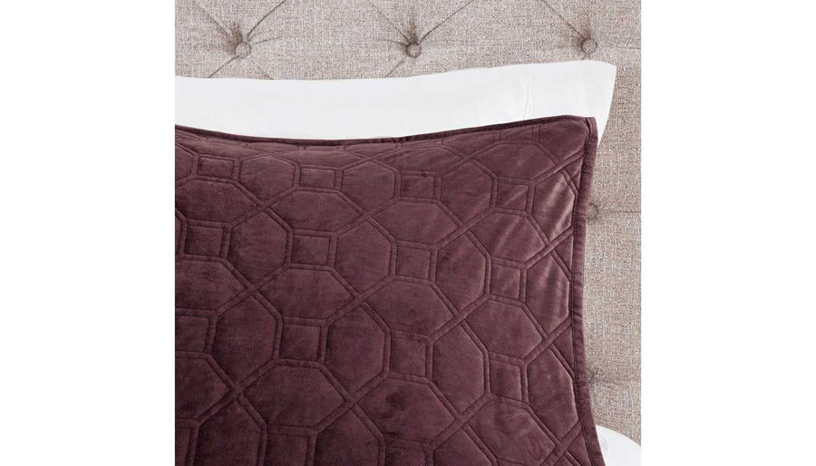 Picture of Harper Velvet Queen 3-Piece Coverlet Set