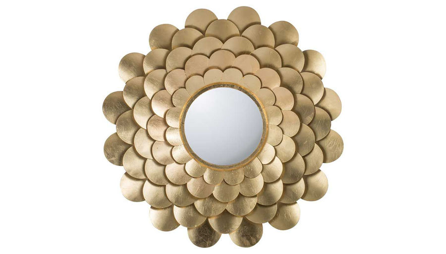 Imagen de HZ Gold Mirror Floral Wall Decor - 44403-DS
