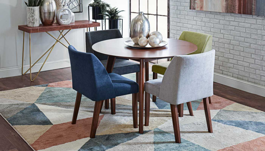 Imagen de Colours Table & 4 Side Chairs