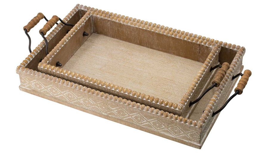 Picture of HZ Wood Tray With Handles Small - 45864-SM