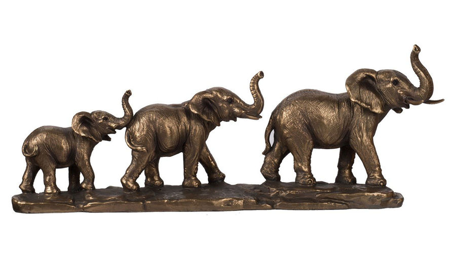 Picture of HZ Elephant Family Statue - 76885