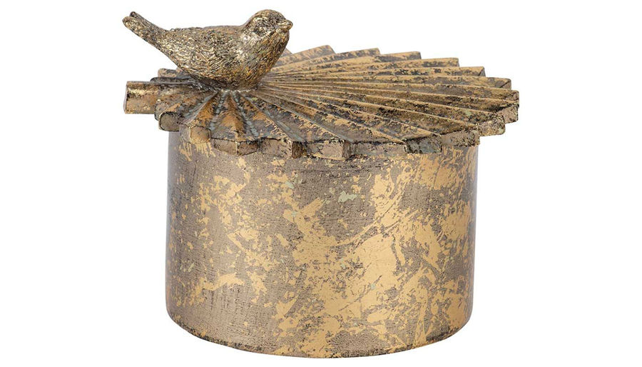 Imagen de HZ Circular Trinket Box With Bird - 77128