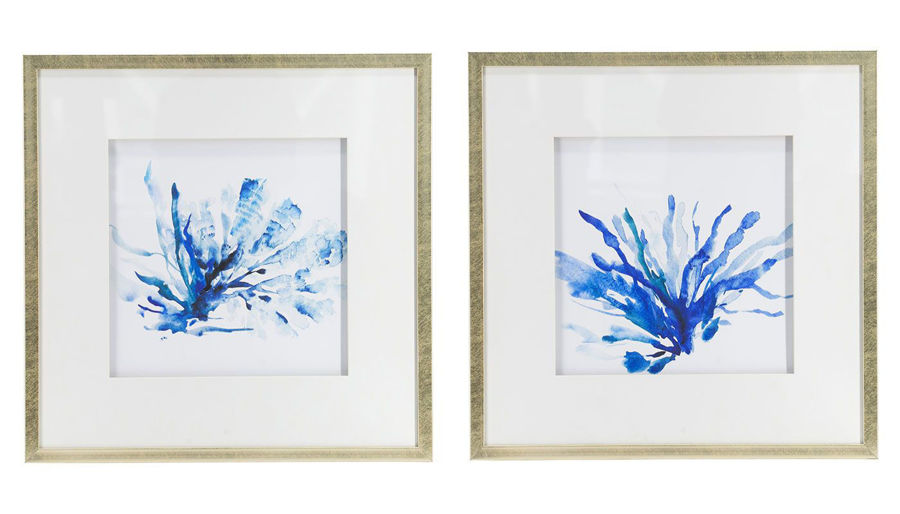 Picture of HZ Coral Wall Art Set Of 2 - 48047