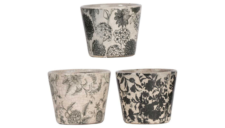 Picture of HZ Black & White Garden Planter - Choose 1 of 3 - D2246