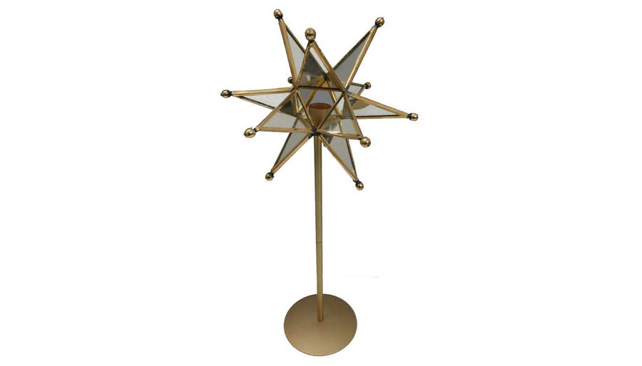 Imagen de HZ Star Candle Holder On Stand - MO38425
