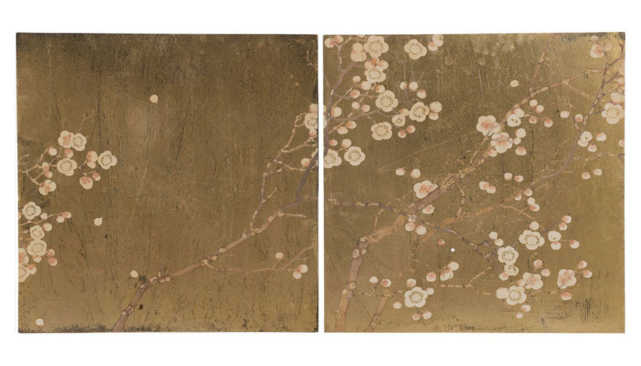 Picture of HZ Gold Floral Wall Art Set Of 2