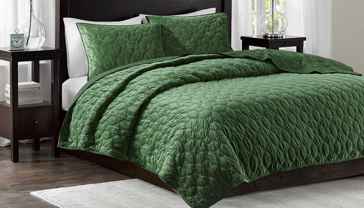 Harper Green Velvet King 3 Piece Coverlet Set Home Zone Furniture Furniture Stores Serving Dallas Fort Worth And Northeast Texas Mattress Sets Living Room Furniture Bedroom Furniture