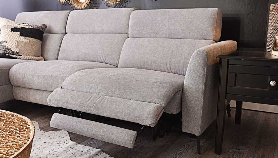 Picture of James Light Grey Sectional with Chaise