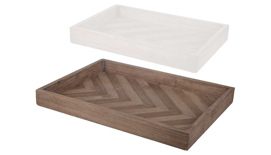 Picture of HZ Chevron Pattern Tray Large - 40743-LG