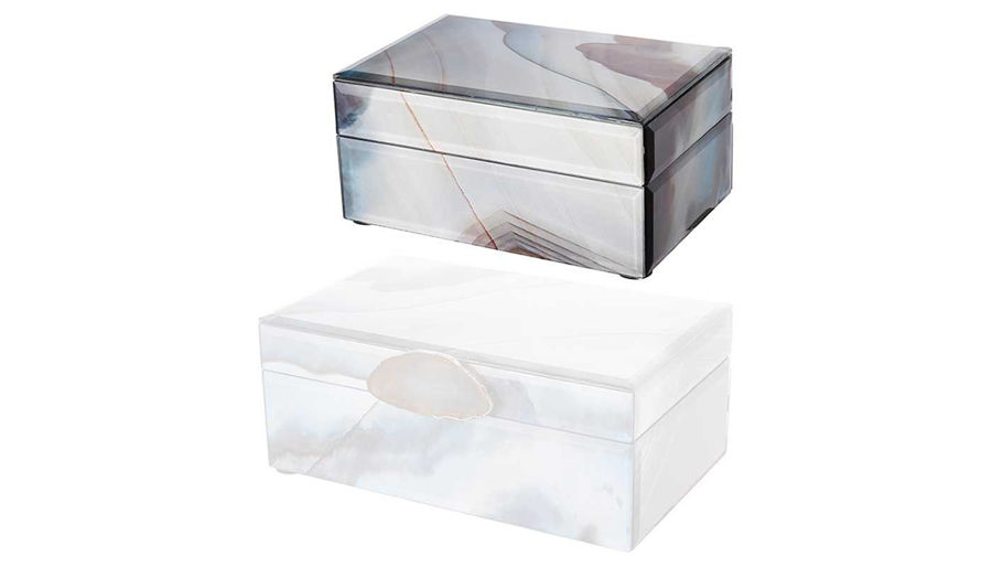 Picture of HZ Ione Jewelry Box Gray Small - 43173-SM