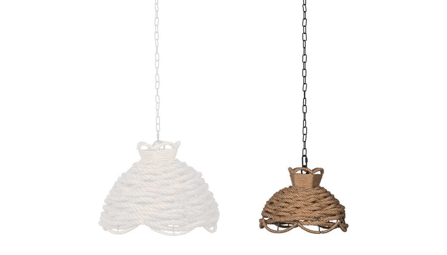Picture of HZ Rope Woven Chandelier Small - 43739-DSS