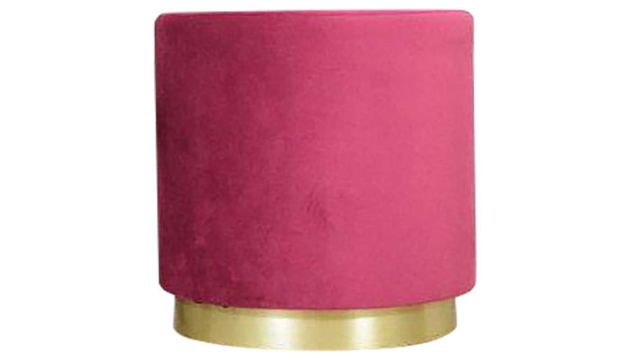 Picture of Evie Maroon Velvet Pouf
