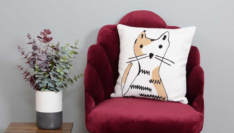 Picture of Cat Pillow Cotton Pillow
