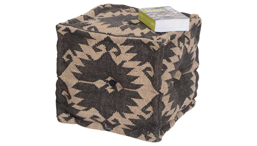 Picture of Karima Wool & Jute Kilim Pouf