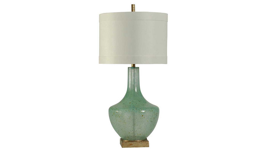 Picture of Green Glass With Gold Base Table Lamp