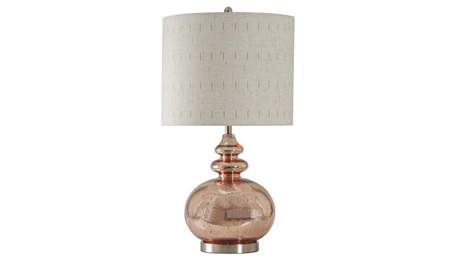 Picture of Rose Mercury Glass Lamp